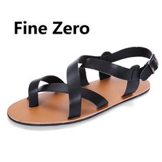 Men Sandals Leather Sandals 2017 Men Fashion Hook & Loop Mens Gladiator  Sandal Brand Shoes Men