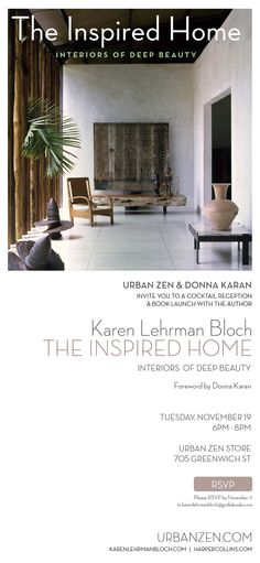The Inspired Home - book launch at Urban Zen Store