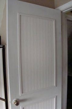 Cheap and easy makeover for boring doors with beadboard wallpaper!  | followpics.co