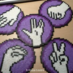 Rock, paper, scissors, lizard, Spock - Big Bang Theory Hama beads by hamalovers