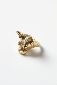 Anthropologie Bull Dog Ring