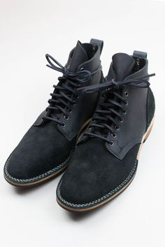 Stealth... steezncrackers:  allthesunthatshines:  Viberg Black Buffalo Suede/Smooth Service Boots. Such flames.  yup
