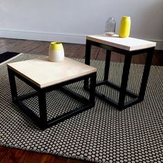 Metal and Wood Side Table Coffee Table Matching Tables