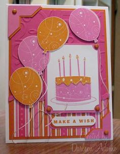 Not-So-Quick Girls B-day Card using Stampin Up Birthday Whimsy