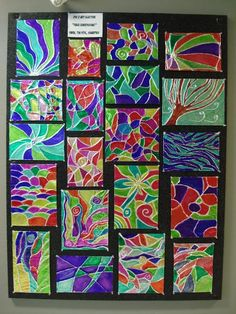 Foil Embossing with 4, 5, and 6 grade. Use cereal box, yarn, aluminum foil, glue, and sharpies   a faithful attempt