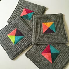 Quilted Coasters (tutorial)