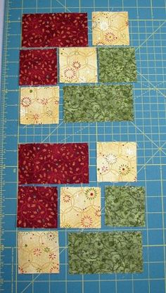 Accidental Quilt block redone Pieces