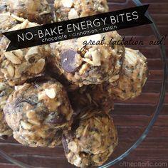 Chocolate-Cinnamon-Raisin No-Bake Energy Bites (Great For Lactation!)