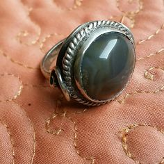 Labradorite  cabochon ring sterling Handmade labradorite ring size 7. Sterling with labradorite cabochon. Excellent vintage condition.  Check out my other beautiful items for sale and bundle up for a 15 percent discount cheers! Jewelry Rings