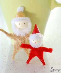 Christmas pipe cleaner ornaments - DIY project ideas