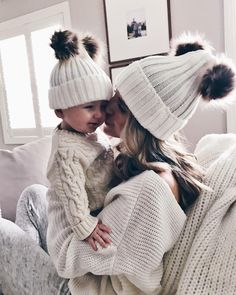"""1,609 Likes, 30 Comments - Becky Hillyard // Cella Jane (@cellajaneblog) on Instagram: """"What my weekend plans look like. The best lil cuddler. #babygrey Our matching beanies are under…"""""""