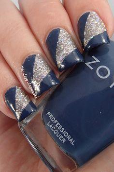 Color blocked nail art, striping tape nail art  Zoya cosmo, Zoya Natty