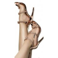 Beautiful, Gorgeous, Sexy Rose Gold Shoes Strappy Sandals Open Toe Stiletto Heels you best choice for Music festival, Date, Big day, Red carpet -TOP Design by FSJ