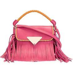 Sara Battaglia Mini \'Amber\' Crossbody Bag (39,040 INR) ❤ liked on Polyvore featuring bags, handbags, shoulder bags, crossbody handbags, pink cross body purse, pink crossbody, crossbody purses and mini cross body