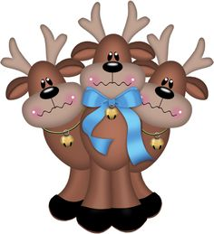 Gifs Christmas: Santa Claus's reindeer