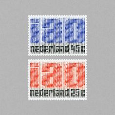 50th Anniversary of I.A.O. Netherlands, 1969. Design: Juriaan Schrofer #mnh #mintneverhinged #mnh_nld #postagestamps