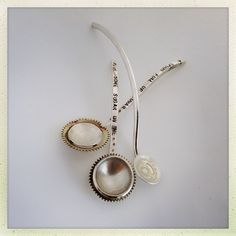 Handmade silver spoons ~ Culinary Tactics Suggest s You Look @ Jewelery By Janine Binneman ~ We Luv It ~  Design on hellopretty.co.za