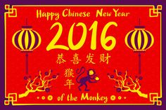 2016 Happy Chinese New Year by Rommeo79 on Creative Market