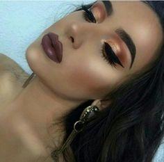 Best Ideas For Makeup Tutorials : ▫️Lips -Iced Mocha-by Gerard Cosmetics ▫️Lashes -Scarlett by Huda Be… Sexy Makeup, Full Face Makeup, Makeup On Fleek, Kiss Makeup, Flawless Makeup, Glam Makeup, Gorgeous Makeup, Makeup Inspo, Makeup Art