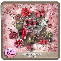 Digital Art :: Element Packs :: Designer Stash Vol. 6 (CU) by Feli Designs Christmas In July, Christmas Wreaths, Digital Scrapbooking, Appreciation, Create, Holiday Decor, Paper, Cards, Design