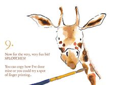 'How to Draw Abigail the Giraffe' links to the children's picture book 'Abigail' by Christine Raynor.