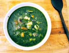 A Provencal classic from Raymond Blanc - Pistou Soup (vegetables, pesto)