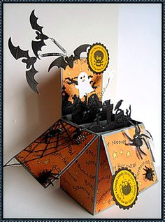 Halloween Card in a box. Love, love, love it!!!