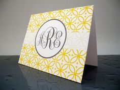 Personalized Stationery - Monogrammed Notecards - Personal Stationery on Etsy, $15.00