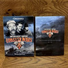 Lobster Wars Deadliest Catch the Dramatic Quest for Sea Gold 3 Dvd Box Set Dvds For Sale, Deadliest Catch, Stormy Sea, Discovery Channel, Battle, War, Gold, Yellow