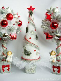 Christmas Tree Art, Felt Christmas Decorations, Christmas Centerpieces, Christmas Paper, Christmas Items, Homemade Christmas, Christmas Projects, Christmas Holidays, Christmas Wreaths