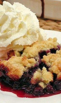 Best Ever Blueberry Cobbler~