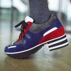 block platform sneakers