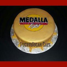 Medalla beer cap cake!