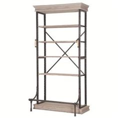 Four Hands Irondale Braxton Single Bookcase with 5 Shelves - Reeds Furniture - Open Bookcase Los Angeles, Thousand Oaks, Simi Valley, Agoura Hills, Woodland Hills