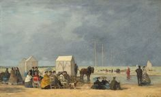 Bathing time at Deauville - Eugène Boudin (French, 1824-1898)