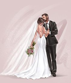 Wedding Dress Illustrations, Wedding Dress Sketches, Wedding Illustration, Wedding Dresses, Wedding Drawing, Wedding Art, Cute Babies Photography, Creative Flower Arrangements, Abstract Face Art