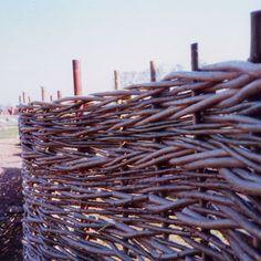 Great examples of Natural Woven Fencing. Wonder Wood - Natural Fences and Hurdles