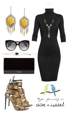 """""""Style Yourself in Chloe & Isabel"""" by stylez-by-bee on Polyvore featuring Tom Ford, Undress, Alexander McQueen, Balmain and Chloe + Isabel"""