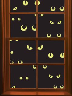 Martha Stewart Outdoor Halloween Decorations | Martha Stewart Crafts Window Cling, Scary Eyes