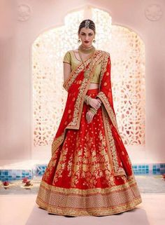 361fa0684fff 52 Best red lehenga images | Hindu weddings, Indian weddings, Red ...