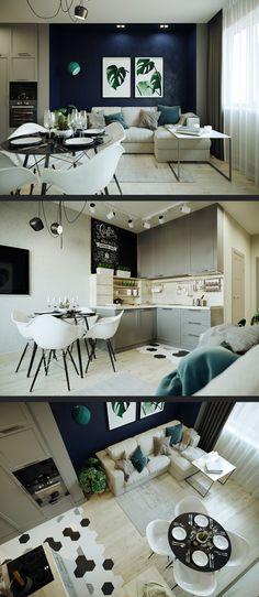 Проект трехкомнатной квартиры. - Галерея 3ddd.ru