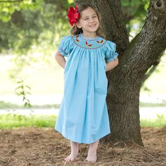 Turquoise Smock Watermelon Dress from LWD