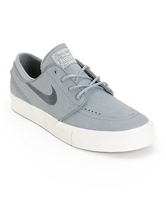 a37d750b51dd A clean pebbled Cool Grey leather upper provides stylish durability with a  comfy Nike Zoom Air