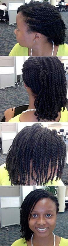 How To Make Small Two Strand Twists #naturalhair www.naturallycurl... www.naturallycurl...
