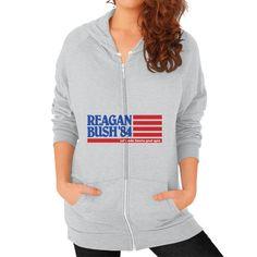 Reagan Bush '84 Flag Women's Zip Hoodie