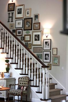 Stair Risers And Gallery Wall With Hand | Home Sweet Home | Pinterest |  Gallery Wall, Walls And Stairways