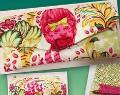 Tula Pink Parisville Cameo Necessary Clutch Wallet