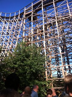 Wooden rollercoaster at Efteling, Kaatsheuvel