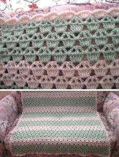 This Cupcake Afghan is great for beginners. Use a simple stitch to create a delightful afghan that everyone will love. This free crochet afghan patterns features light, pastel colors, making it ideal for a baby shower.