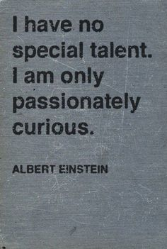 Be passionately curious